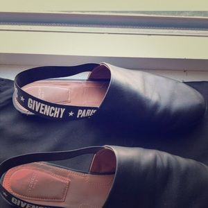Givenchy Black rivington logo slingbacks